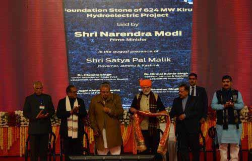 Foundation Stone of Kiru HE Project (624 MW)