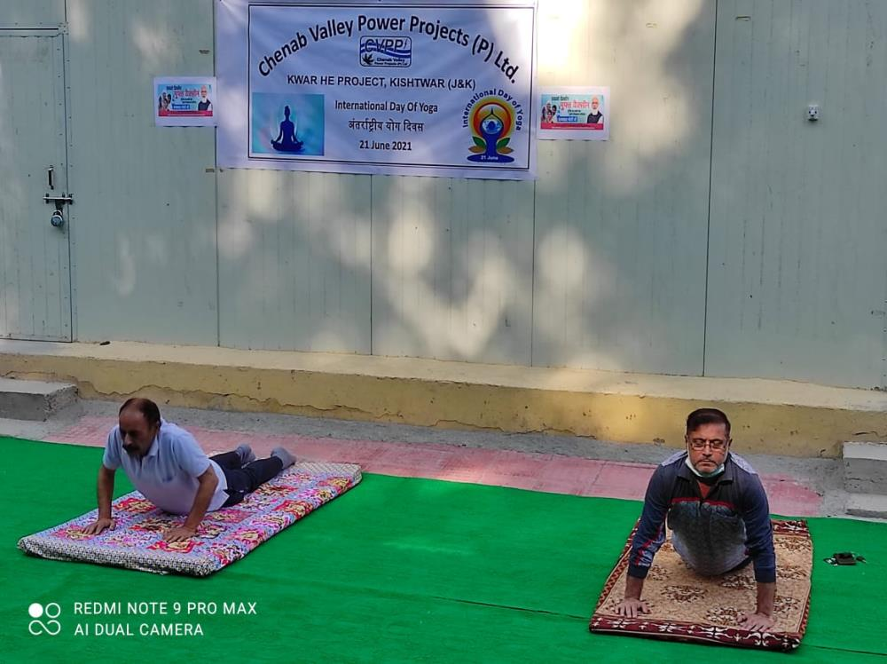 International Yoga Day on 21-06-2021 at KWAR HEP