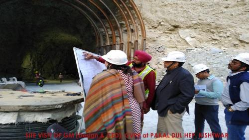 Site Visit of GM (Design & CED) at Pakal Dul HEP, Kishtwar