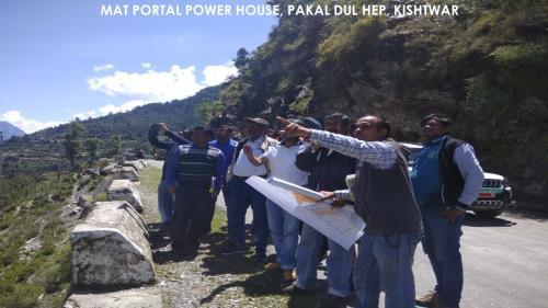 Site Visit of CE (Design) at Pakal Dul HEP (1000MW), Kishtwar