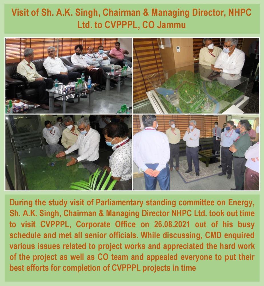 Visit of Sh. A.K. Singh, Chairman & Managing Dire...