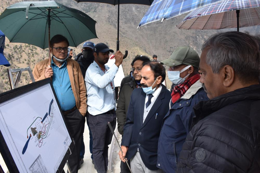 SITE VISIT OF DIRECTOR (TECHNICAL) SH. Y.K. CHAUBEY AND MD-CVPPPL SH. A.K. CHOUDHARY ALONGWITH OTHER SR. OFFICERS ON 10-03-2021