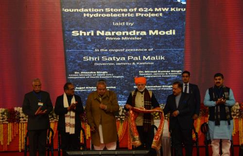 Foundation Stone Laying Ceremony of Kiru HEP by H...