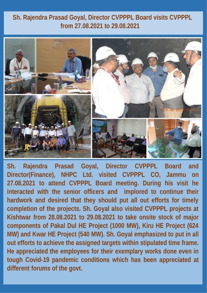 Sh. Rajendra Prasad Goyal, Director CVPPPL Board ...