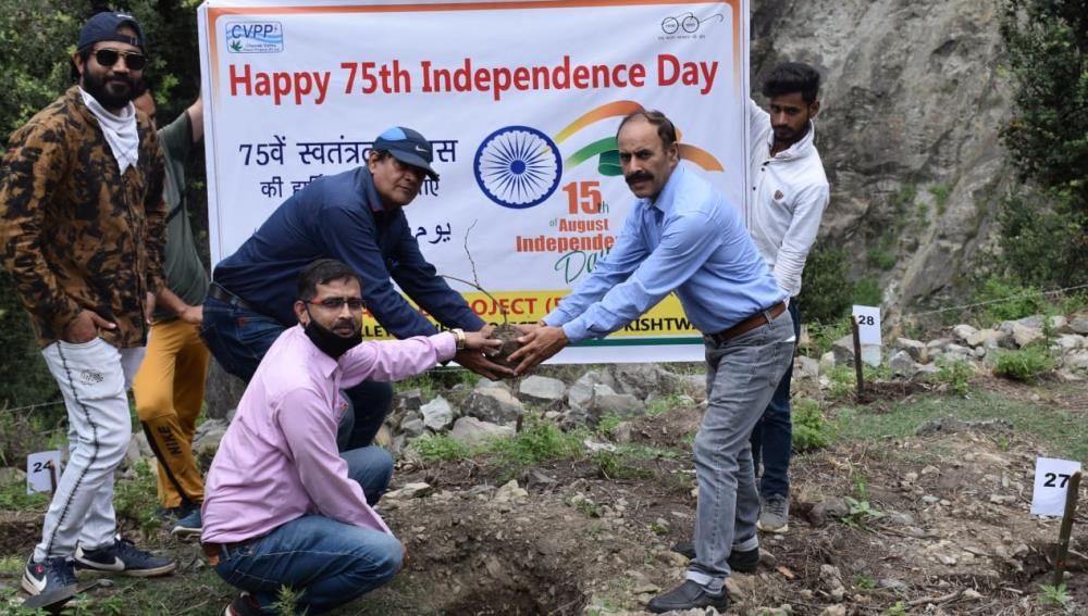 Celebration of 75th Independence Day on 15-08-2021 at Kwar HE Project