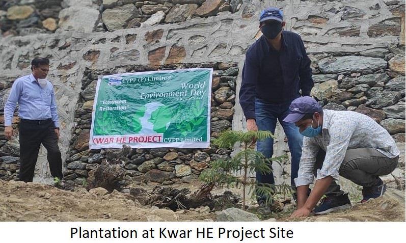 CELEBRATION OF WORLD ENVIRONMENT DAY 2021 AT KWAR HEP