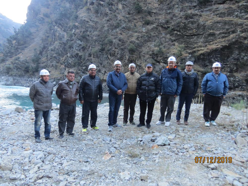 Visit of CMD NHPC, Chairman CVPPPL and MD CVPPPL at Project sites