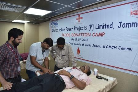 Blood Donation Camp organised at CVPPPL C.O Jammu