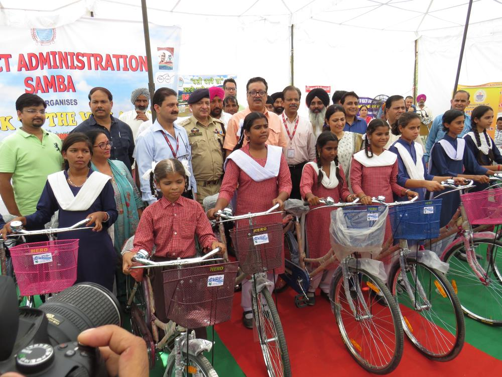 Bicycle Distribution to Girls of Govt. High Schoo...