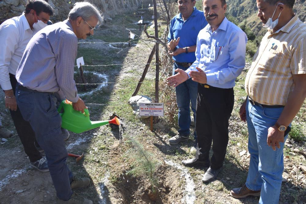 Site Visit of Sh. A.K. Choudhary, Managing Director, CVPPPL at Kwar HEP on 14-15-09-2021