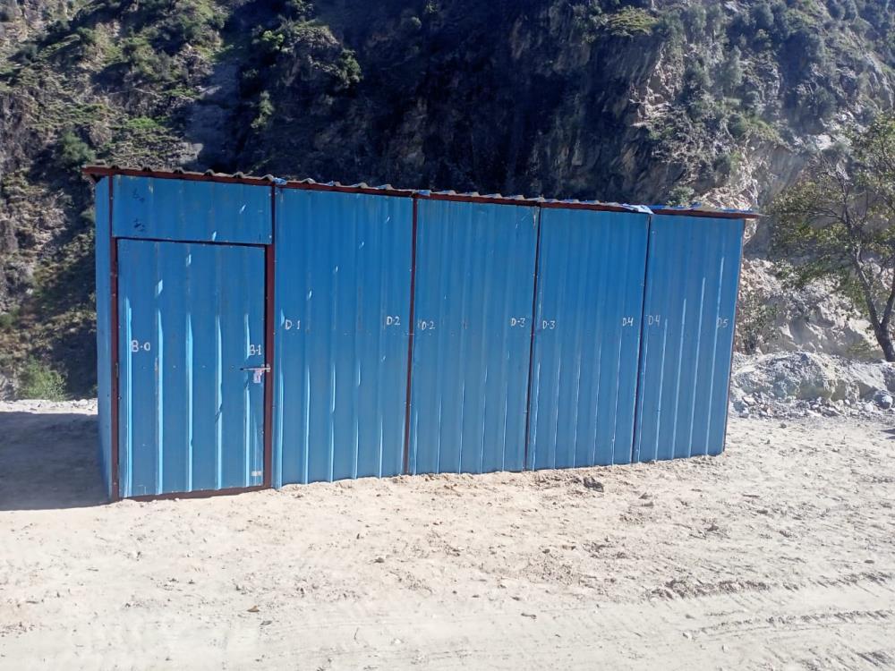 BRIDGE WORK ON LEFT ABUTMENT AT KWAR HEP SITE