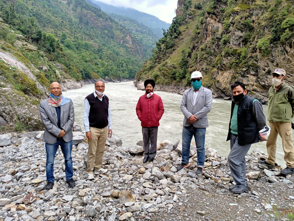 Visit of DC Kishtwar, Sh. Rajinder Singh Tara at Kiru Project dated 31.05.2020