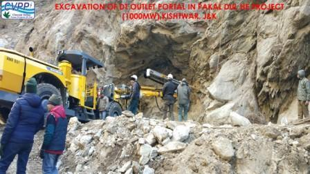Glimpses of major Construction Activities in Pakal Dul HEP