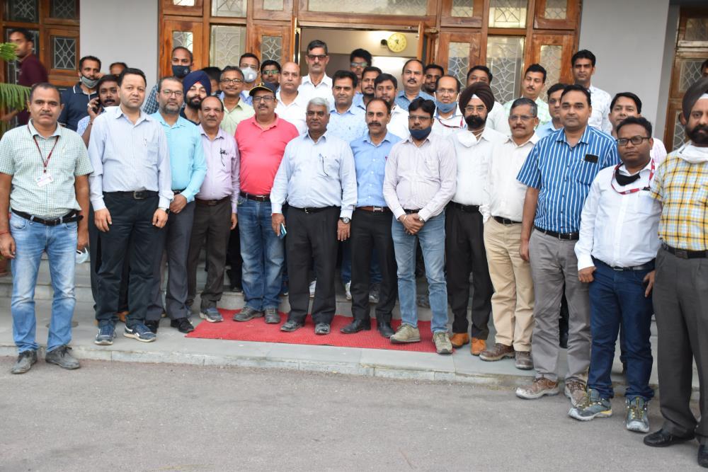 Site Visit of Sh. R.P. Goel (Dirctor-Finance) at Kwar HEP on 28-29-08-2021