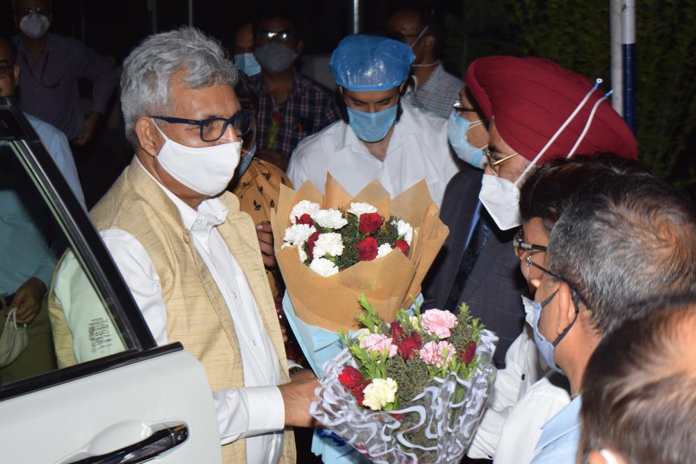 Welcome of CMD NHPC at Chenab Bhavan Dul Hasti