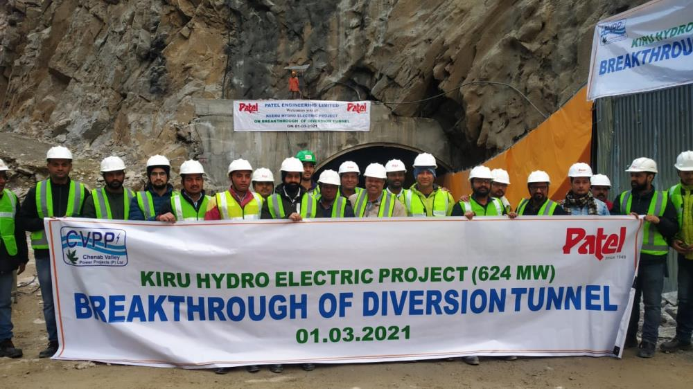 Diversion Tunnel of 624 MW Kiru HE Project  was d...