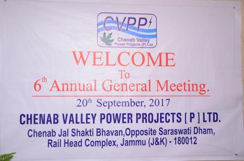 6th Annual General Meeting of CVPP[P] Ltd