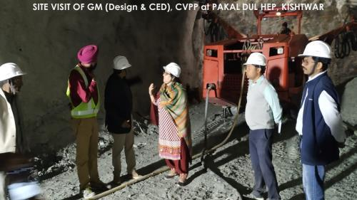 Site Visit of GM (Design &CED) at Pakal Dul HEP, Kishtwar
