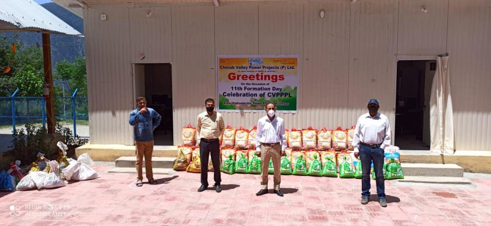 CELEBRATION OF 11TH FORMATION DAY OF CVPPPL AT KWAR HEP ON 13-06-2021