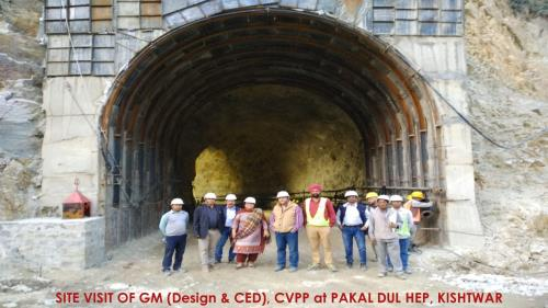Site Visit of GM (Design &CED) at Pakal Duil HEP, Kishtwar