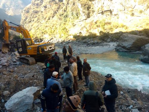 Site Visit of CE (Design) at Pakal Dul HEP, Kishtwar