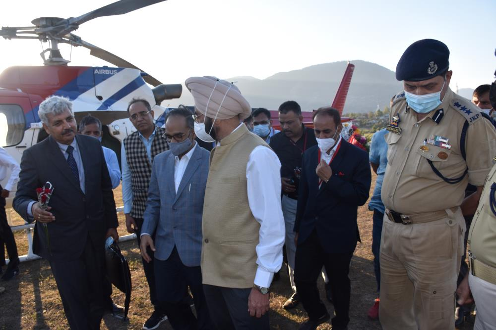 Kwar HEP Site Visit of Sh. Alok Kumar, Secretary Power, GOI, along with Joint Secretary- Distribution, CMD-NHPC, MD-CVPPPL and others Dignitaries & Sr. Officers on 07-10-2021